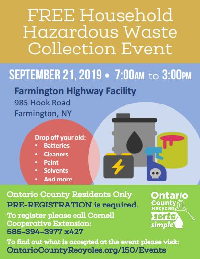 Events | Ontario County Recycling, NY