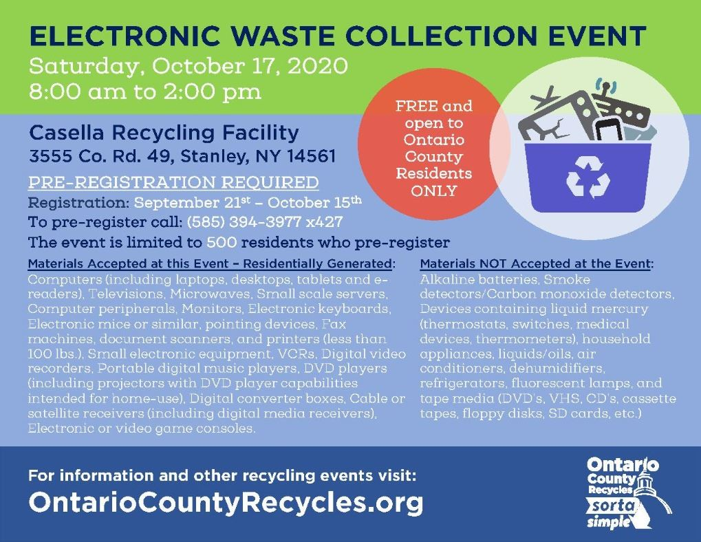 E-Waste Event flyer - ad October 2020